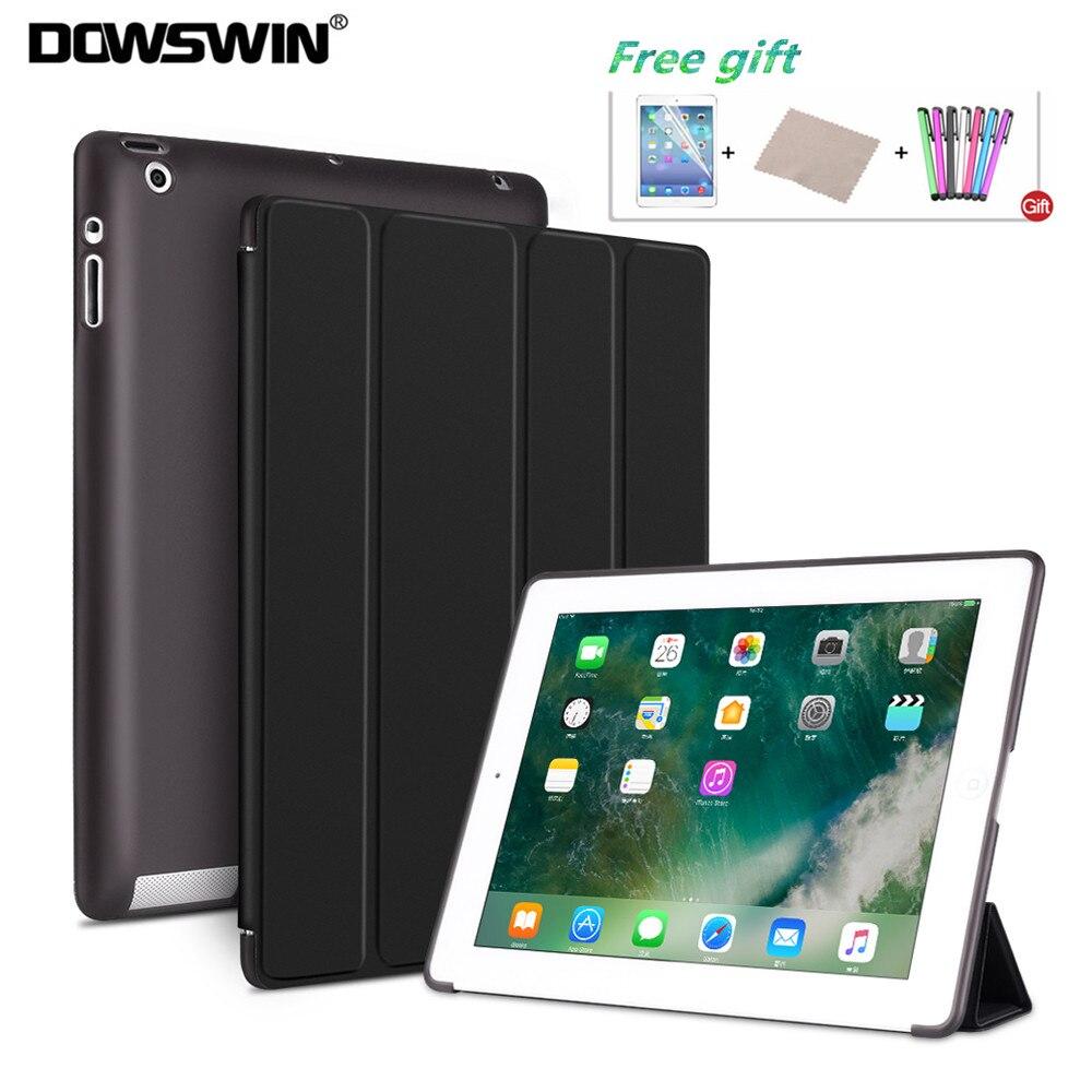 DOWSWIN Fall Für iPad 2/3/4 Weiche Rückseitige Abdeckung TPU Leder Fall Für iPad 4 Flip Smart abdeckung Für iPad 2 Fall Auto-Sleep/Wake Up