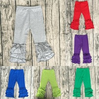 multi-color choice cheap china wholesale clothing baby triple ruffle pants kids girl icing pants