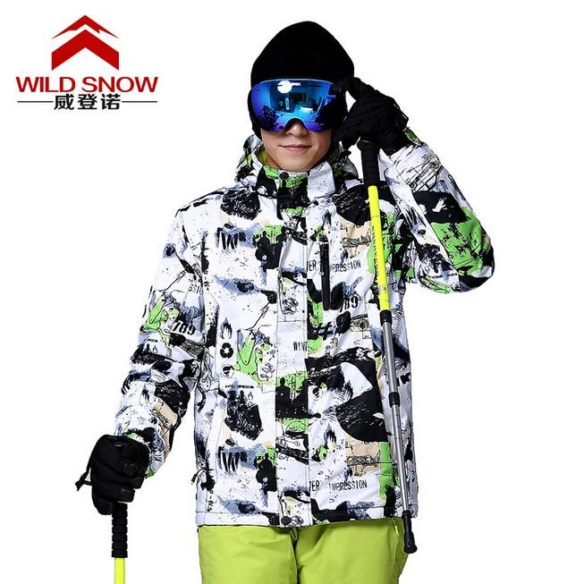 Wild SnowMen's Snow Winter Ski Jackets Suit Outdoor Thermal Waterproof Snowboard Jackets Climbing Snow Skiing Clothes fl ski gloves snowboard