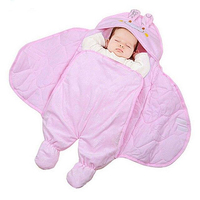 7b4ceab49 Bebé recién nacido invierno envuelto en mantas Cartoon Bat diseño saco de  dormir infantil del bebé