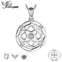 JewelryPalace Флора ирландский кельтские узлы Кубического Циркония Круглый Кулон 925 пробы серебряный бренд ювелирные украшения не включают цепь