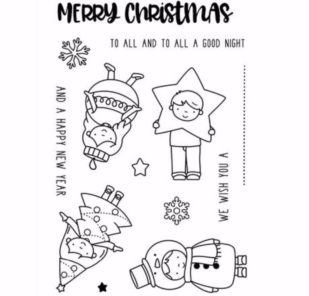 Joyeux Noël Transparent Timbre En Silicone/joint pour Scrapbooking BRICOLAGE/Album Clair Décoratif Feuilles de Timbres A1279