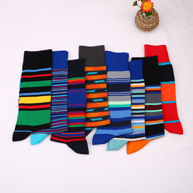 Men Bamboo Fiber Casual Short Happy Socks British Style Funny Colorful  Anti-Bacterial Deodorant Breatheable Gifts For Men