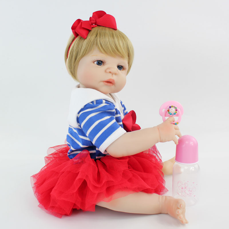 55cm Full Body Silicone Bebe Reborn Doll Toy 22 Lovely Vinyl Newborn Princess Toddler Baby Girl Bonecas Like Alive Bathe Toys55cm Full Body Silicone Bebe Reborn Doll Toy 22 Lovely Vinyl Newborn Princess Toddler Baby Girl Bonecas Like Alive Bathe Toys