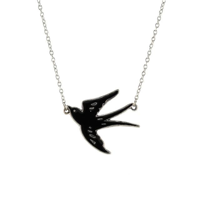 Trusta 2017 new hot fashion silver black swallow pendant 17 short trusta 2017 new hot fashion silver black swallow pendant 17 short necklace for friendship ee05 mozeypictures Gallery