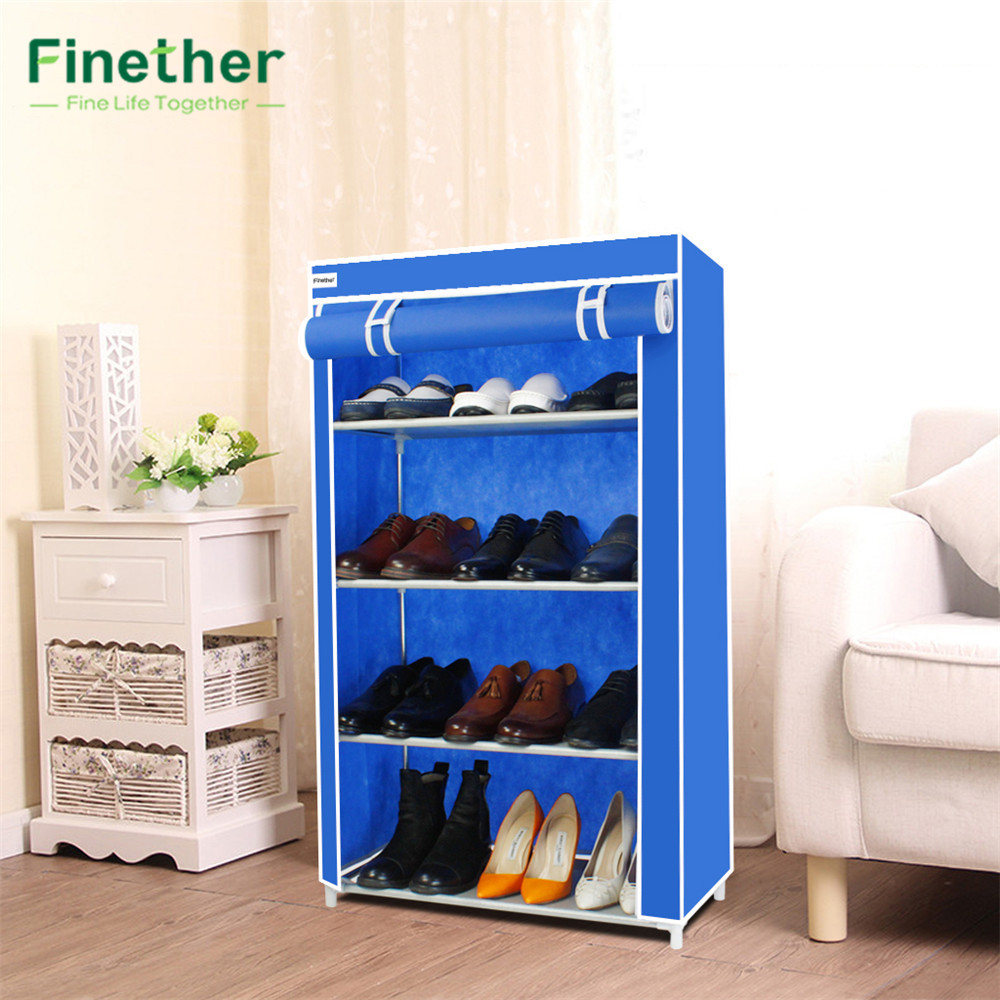 Finether 5 Tier Non Woven Fabric Shoes