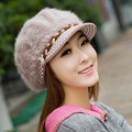 Hot Sale 2016 Fashion New Arrow Autumn Winter Women Thick Knitting Warm Fake Fur Hats Cap For Girls Lady