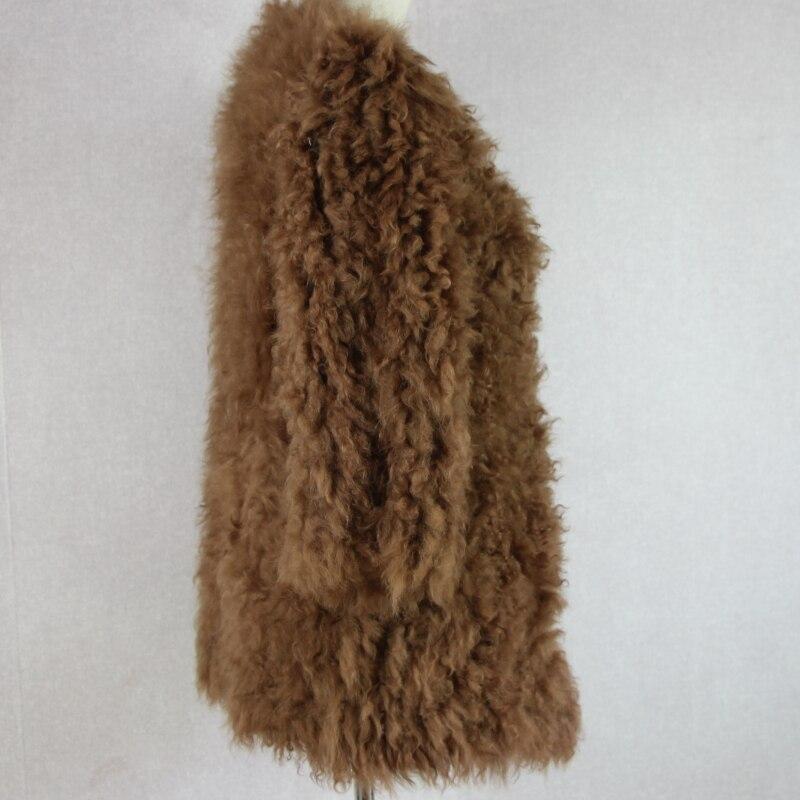 Largo Piel Más Cordero Mujer Mongolia Natural Caliente Estilo Rusa 1 3 De Punto 2 Oveja 4 Real Invierno Abrigo FS6qO
