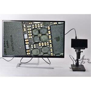 "Image 5 - 34MP 4K الرقمية HDMI USB مجهر ستيريو كاميرا 5 ""شاشة LCD عرض THT SMD لحام أداة تقييم المجوهرات إصلاح الهاتف"