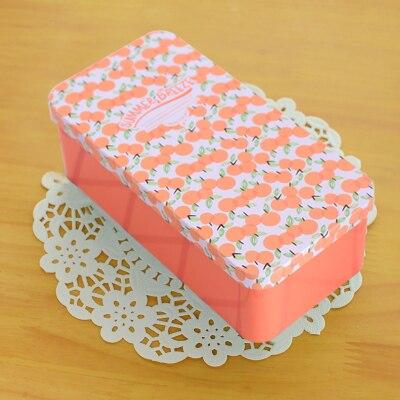 16.5*8.3*5.5cm double layer Large capacity metal storage box stationery box rectangle case