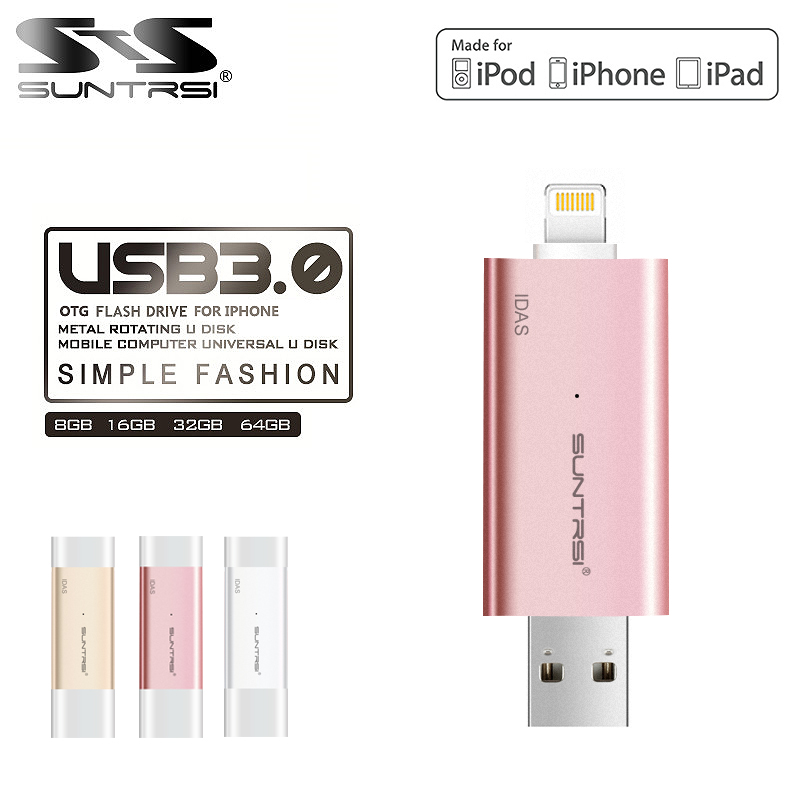 Suntrsi IDAS pen drive usb 3.0 MFI usb flash drive 32GB 64GB 128GB for iphone pendrive for ipad External Storage usb stick usb flash drive