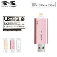 Suntrsi Idas Pen Drive Usb 3.0 Mfi Usb Flash Drive 32Gb 64Gb 128Gb For Iphone Pendrive For Ipad External Storage Usb Stick