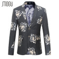 MOGU 2017 Mens Floral Blazer High Quality Fashion Blazer Men Plus Size M-6XL Blazers for Men Two Button Cent Vent Costume Homme
