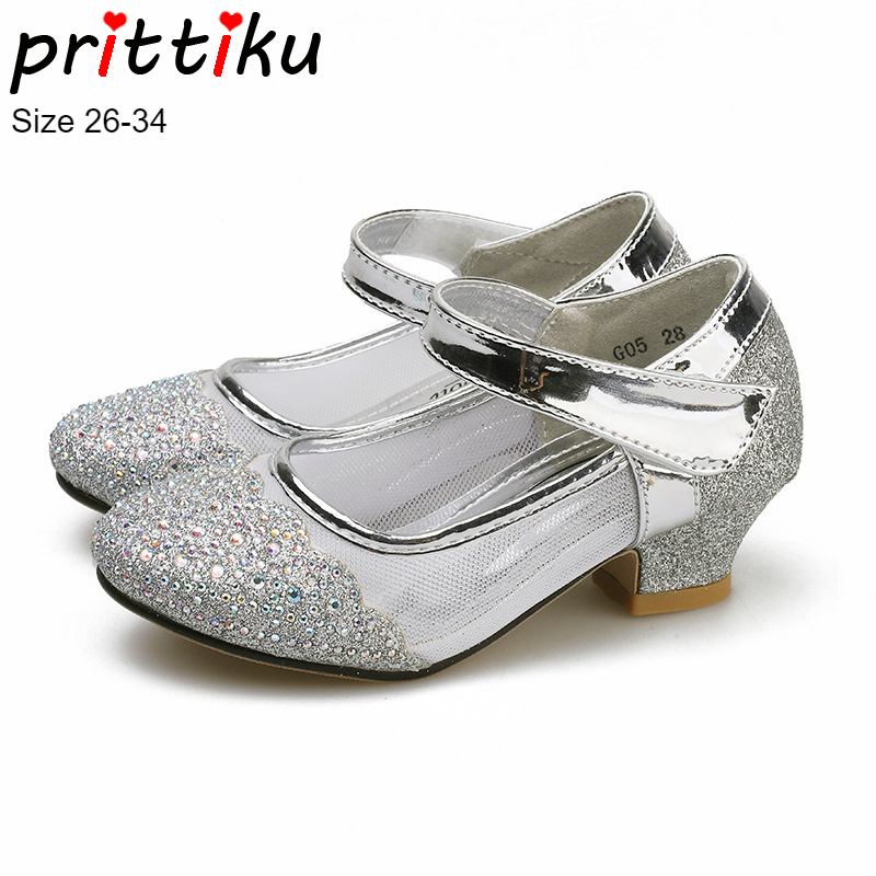 Spring 2019 Girls Glitter Rhinestone Crystal Mary Jane Pumps Toddler Little Big  Kid Flats wz Little Heel Children Princess Shoes-in Leather Shoes from ... 1beb78fce89d