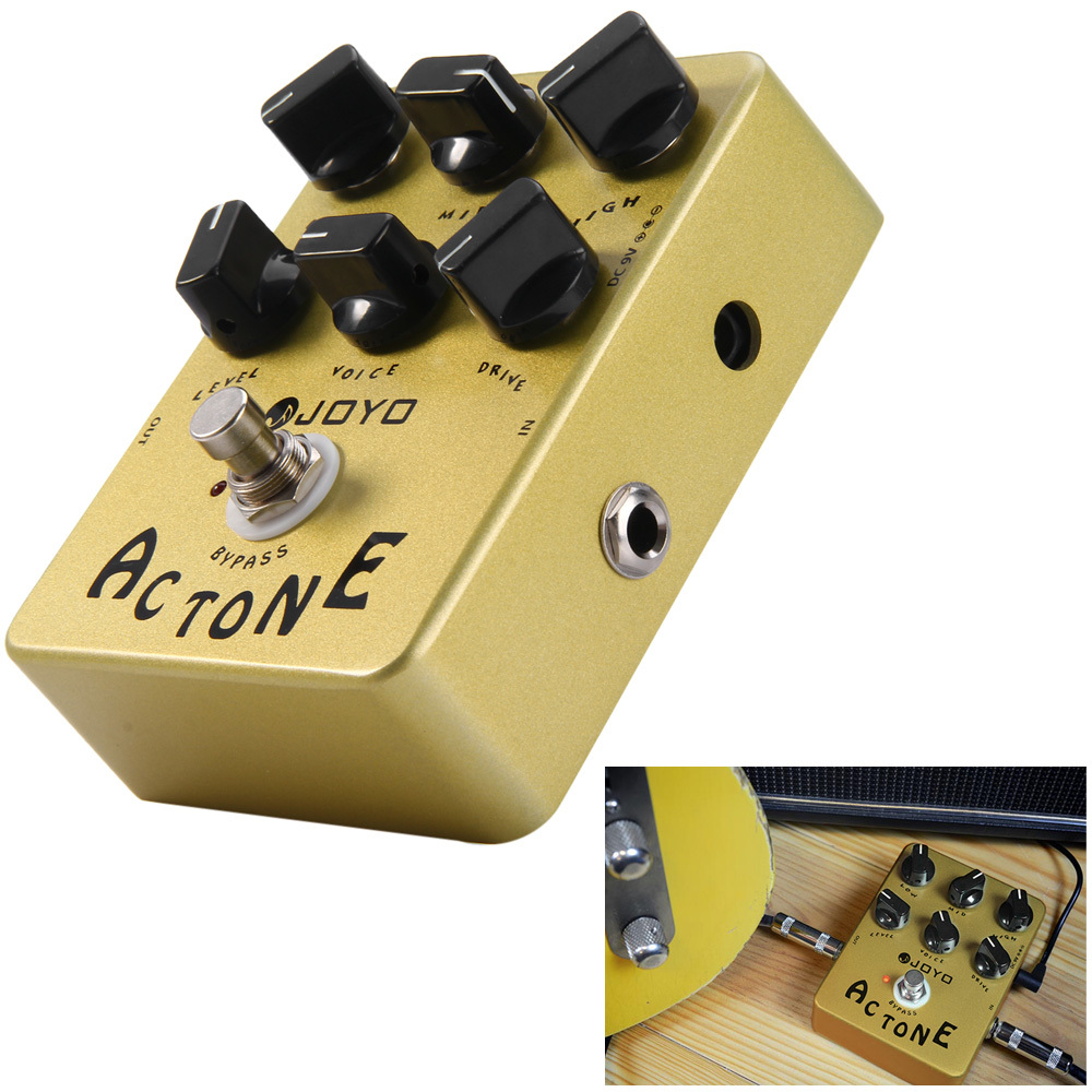 Joyo JF-13 AC Tone Electric Guitar Effects Pedal Classic British Rock Sound Vox AV-30 Tone AMP Simulation Guitar Effect Stompbox joyo guitar effect pedal british sound effect pedal marshall amps simulator jf 16