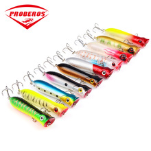 1Pc 10.7g/80mm Floating Popper Fishing Lures Mouth Hard Bait trolling top-water Minnow Sea fishing Treble Hooks Artificial