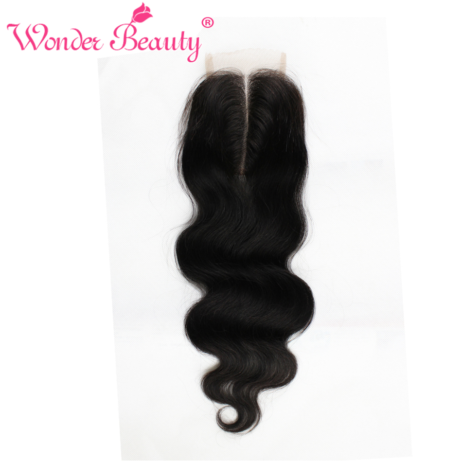 ФОТО wonder beauty products new arrival 8a grade peruvian body wave virgin hair 1pc 4x4 Free Middle 3 Part Closure Top Cosure
