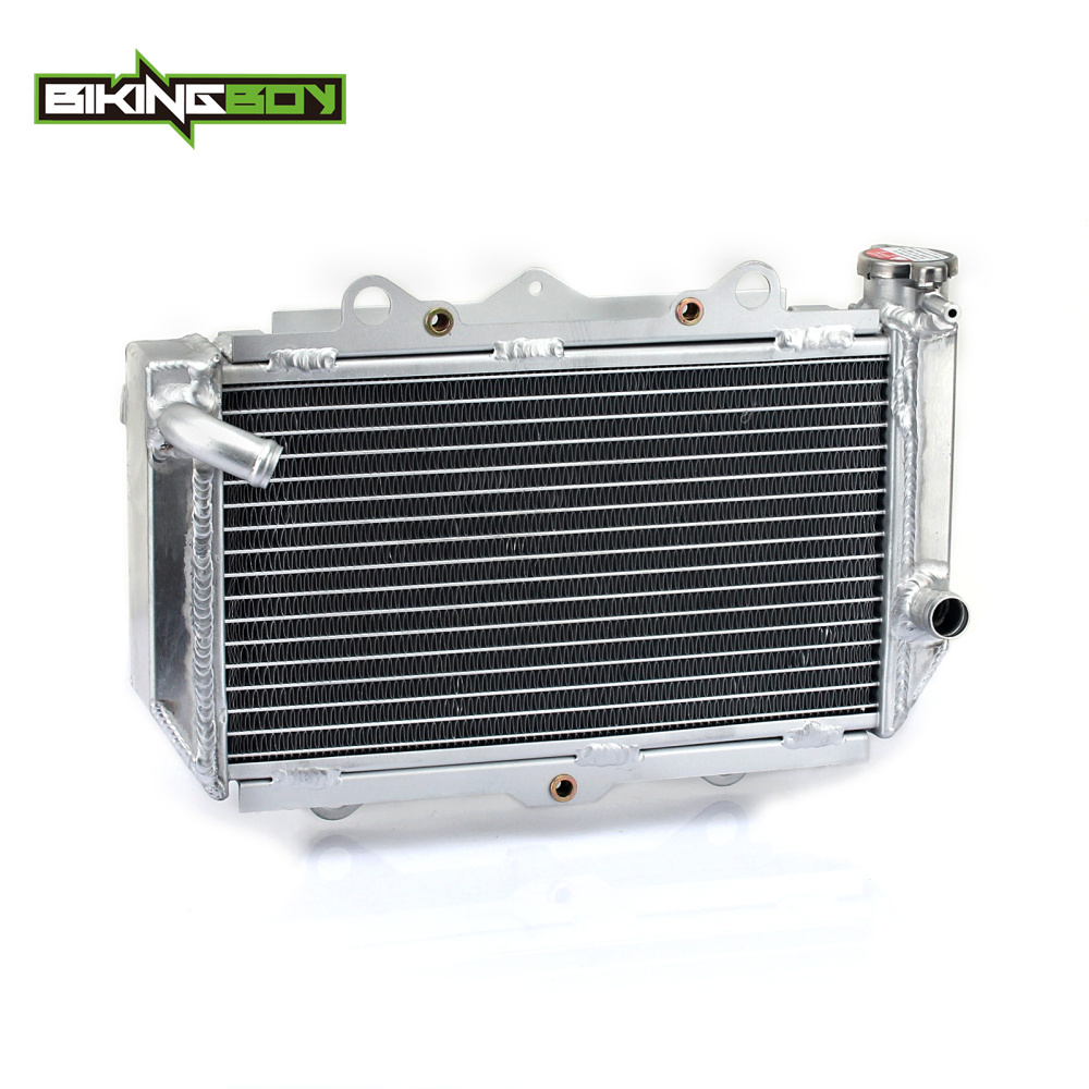 BIKINGBOY ATV Quad Dirt Bike Aluminium Core Engine Radiator Water Cooling Cooler for YAMAHA YFZ450 YFZ 450 2004 2005 06 07 08 09 motorbike crankshaft for xinyuan xy 150cc engine atv dirt bike motorcycle qz 118