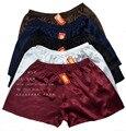 Tamaño más pantalones de playa de seda bragas de seda masculina de seda cortos tronco su215