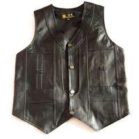 2018 male leather vest sheepskin men's vest the elderly spring and autumn casual vest