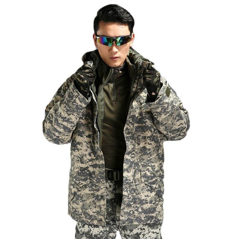 Out door men Removable G8 Windbreaker Tactical Army Camouflage Coat Warm Fleece Military Jacket Waterproof Windproof Clothes lurker shark skin soft shell v4 military tactical jacket men waterproof windproof warm coat camouflage hooded camo army clothing