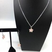 12 шт. маленький свежий розовый эмалированный цветок подвески для Подвеска для девочек милые ювелирные изделия Простые Летние ожерелья подарок для друга