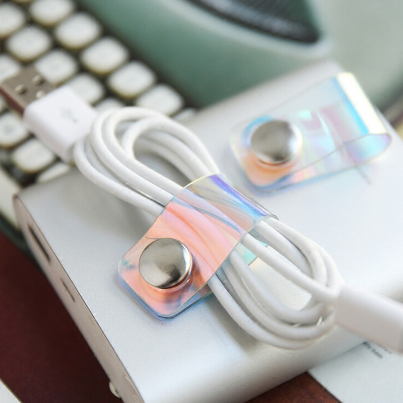 ABS Storage Buckle Organizer Portable Universal Earphone Winder Storage Wire Mobile Data Cable