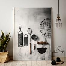 Кухонный плакат трав Чоппер картины HD печатает дома стены искусства скандинавском стиле модульная Картина на холсте свежая для декора гостиной