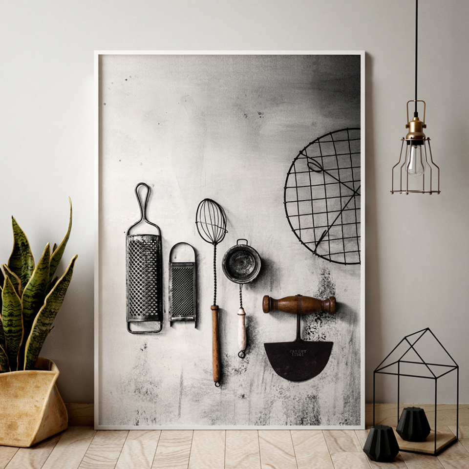 Kitchen Poster Herb Chopper Pictures HD Prints Home Wall Art Nordic Style Modular Painting On Canvas Fresh For Living Room Decor