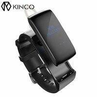 Licznik Kalorii Krokomierz Uśpienia Monitora Bluetooth Inteligentny Bransoletka KINCO Ćwiczenia Rozmówcy Wiadomość Pokaż Opaski dla IOS/Android