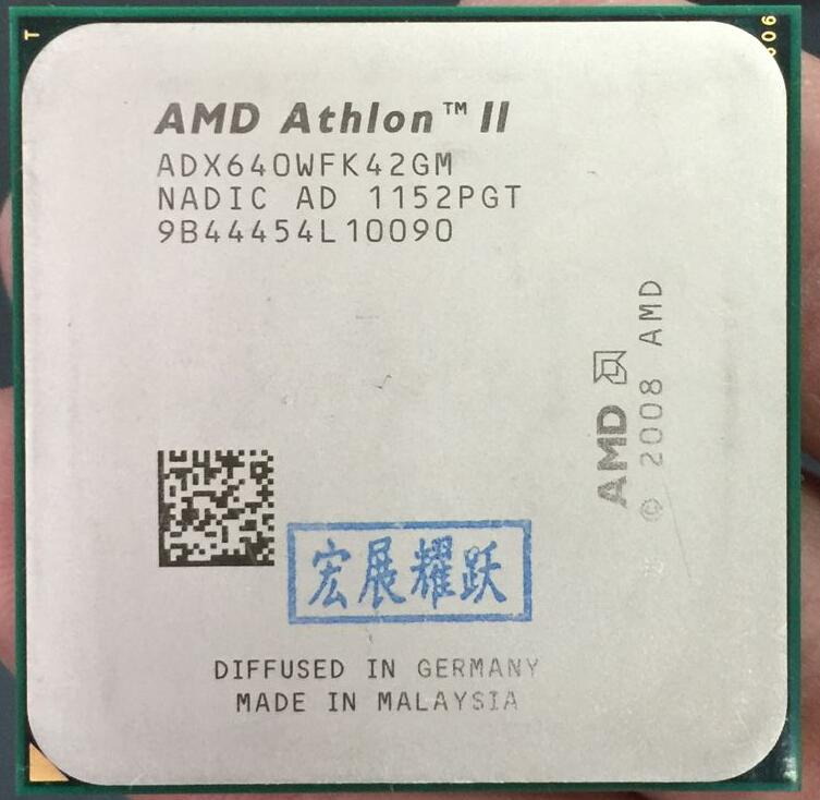 AMD Athlon II X4 640  X640   Quad-Core AM3 938 CPU 100% Working Properly Desktop Processor