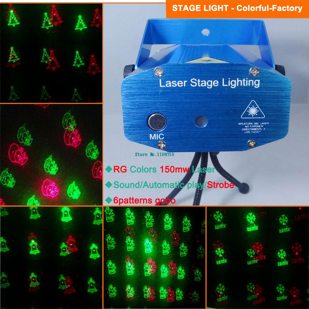New Mini Red Green  Patterns Laser Projector Christmas Holographic Dance Disco Bar Party Dj Effect Stage Light Show D Free In Stage Lighting Effect From