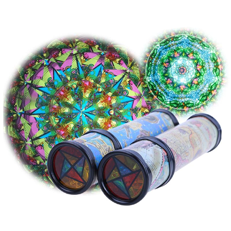 20cm Magic Rotating Kaleidoscope Geometric Patterns Flowers Colors Changing Display Kaleidoscope Kids Students Educational Toy