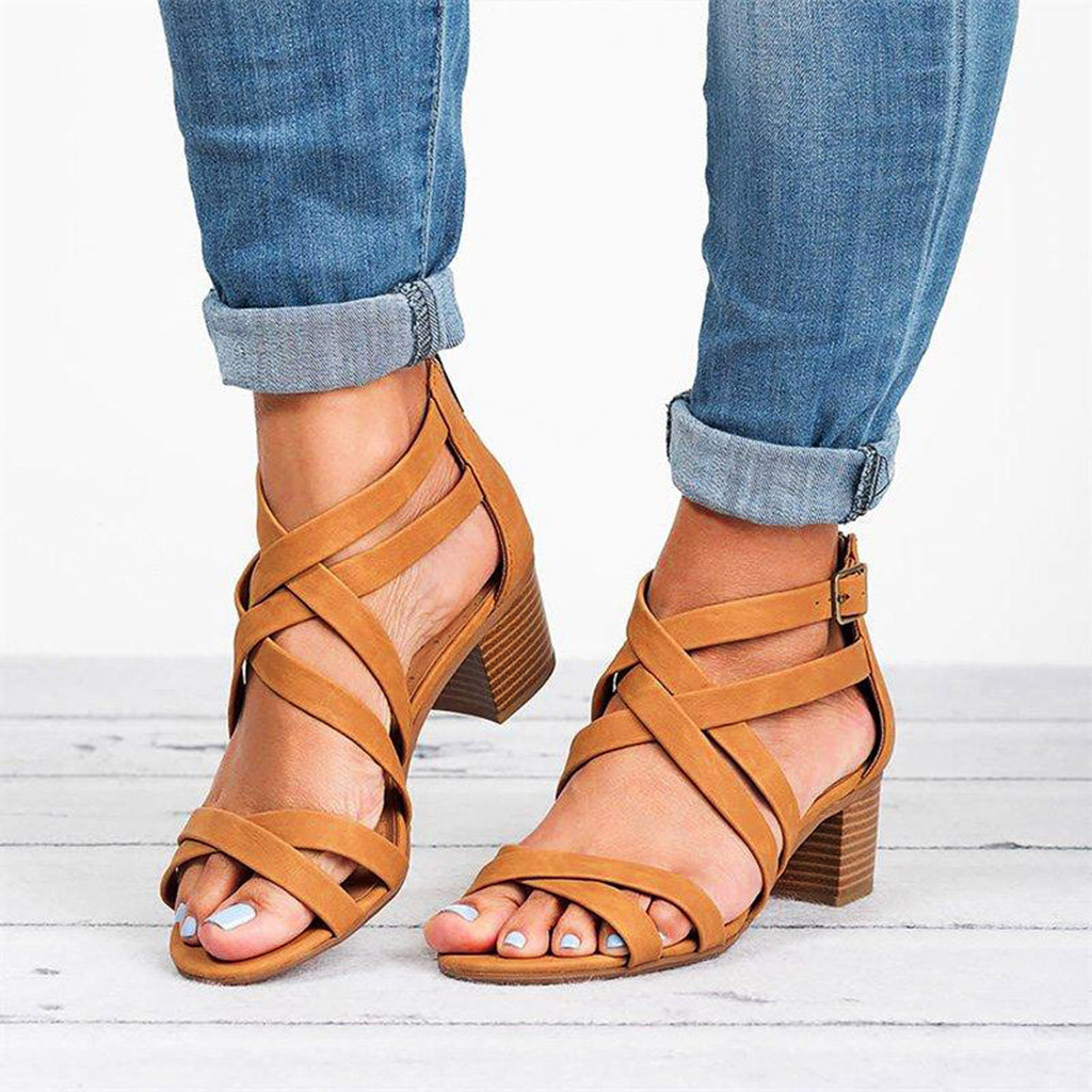 Roman Shoes Sandals Ankle-Strap Hollow-Out Hot-Sale Femme Casual Fashion Ladies Ete -Byy30