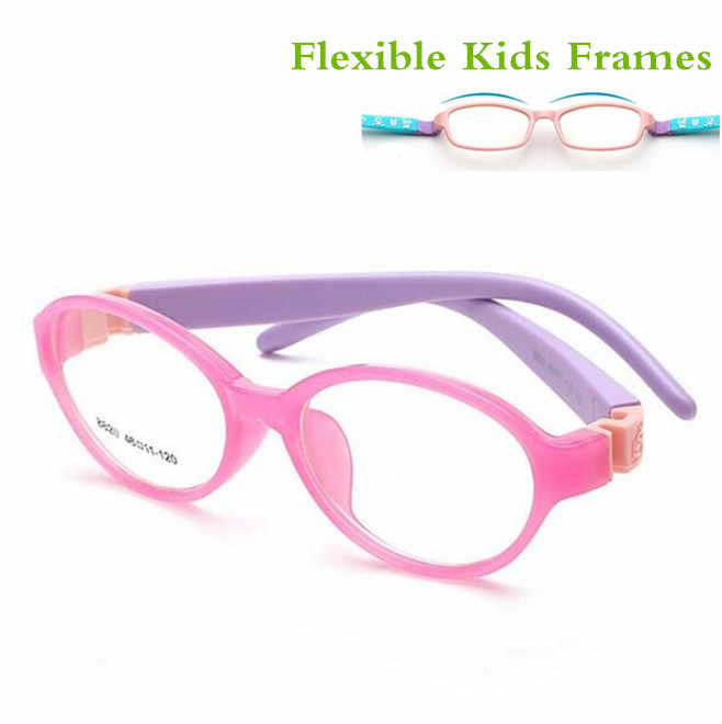 Detachable Rubber Leg Kid Glasses Eyeglasses Kids Frames Optical Eyewear for Children No Screw Safe TR Food Grade Myopia Lense