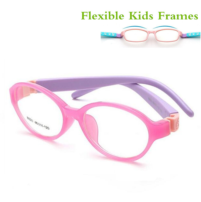 Avtagbar Gummi Leg Kid Glasses Eyeglasses Kids Frames Optisk Eyewear For Children Ingen Skrue Safe TR Food Grade Myopia Lense