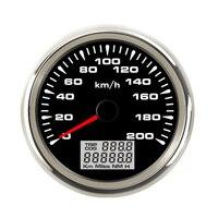 7 Colors Backlight 85mm GPS Speedometer Gauges IP67 Waterproof  TRIP COG LCD Display for DC 9-32V
