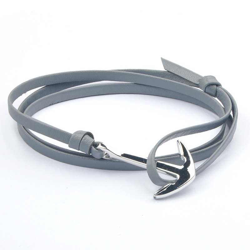 NIUYITID Antique Silver Anchor Bracelet For Women Classic Man Jewelry Accessories Nautical Sailor Female Lover Wristband  (4)