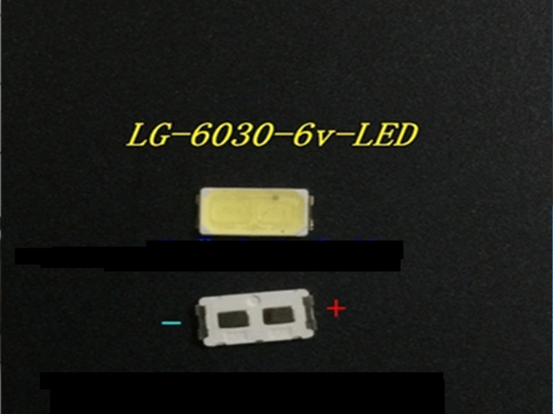 200Pieces/lot LEDs working for LG 6030 6V 0.5W 80MA  repair LG LED strip Cold white light Lahore