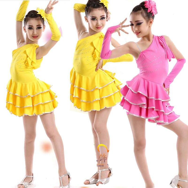 49049a325 New Girls Latin Salsa Dancing Dress Kids Ballroom Party Dance wear ...