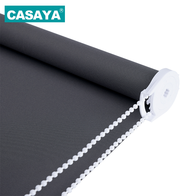CASAYA Grey Blackout Roller Blinds Drill System Office Kitchen Bed Room Half shade or Full Shade