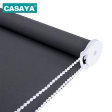 CASAYA серые плотные рулонные шторы дрель Системы офисные Кухня номер половина оттенок или полный оттенок жалюзи индивидуальные Размеры