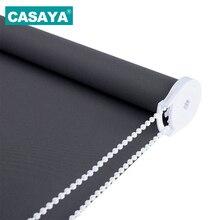 CASAYA серый плотные рулонные шторы дрель системы офис кухня кровать половина тенты или полный тенты жалюзи Индивидуальный размер