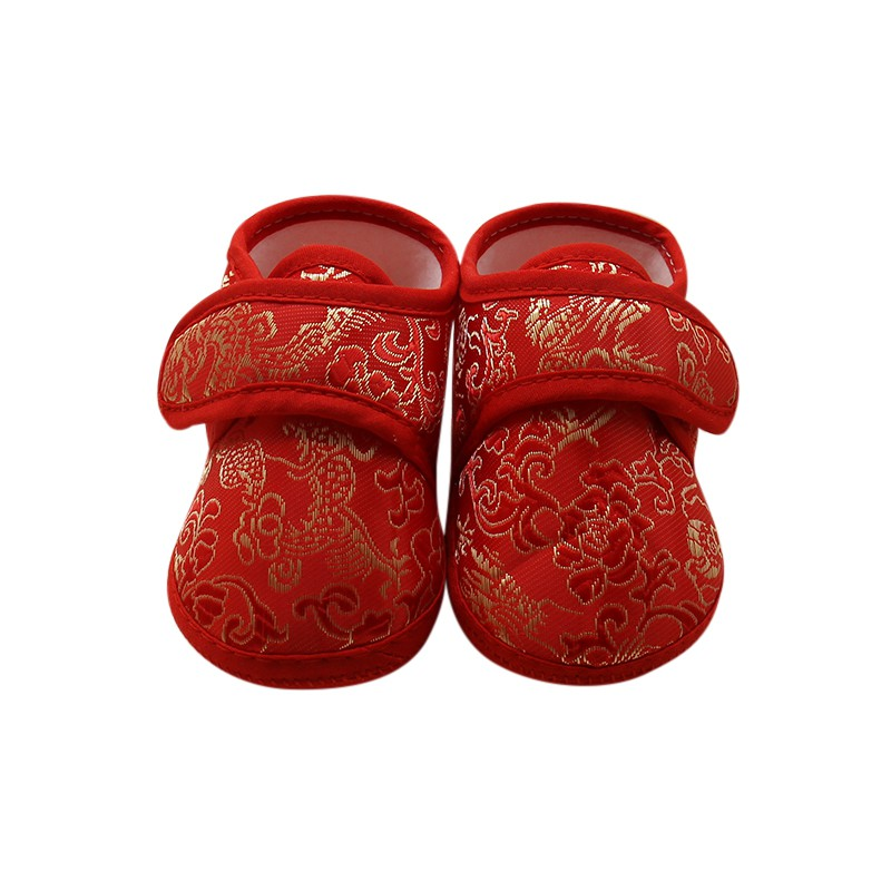 Kids Classic Chinese Style Newborn Autumn Cotton Soft Warm Cozy Bottom First Walkers Baby Cack Shoes