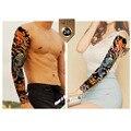 3 pçs/set Tamanho Grande Homens e Mulheres À Prova D' Água Etiqueta Do Tatuagem Do Braço Cheio Ornamentais Mangas Tatuagens Temporárias Body Art Maquiagem