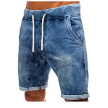 Washed Slim Men's Denim Short Jeans Masculino Straight Summer Men Jeans Shorts Homme Bermuda Male Fashion Casual Shorts Cotton(China)