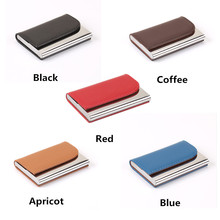 ZOVYVOL 2019 Big Capacity Business ID Credit Card Holder Name card wallet Bank Card Package Solid Steel Card Box Case women men vintage brand new leather business credit card name id card holder case slim wallet box for women and men gift 1pcs