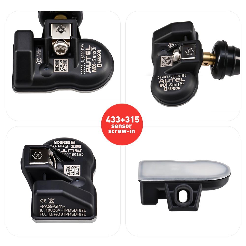 Image 5 - Autel MX сенсор 315 МГц 433 МГц сканер шин давление датчик MX мониторинга системы TPMS сканирования инструмент для 98% транспортных средств PK OE сенсор