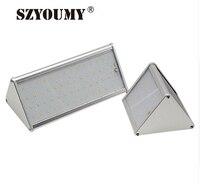 SZYOUMY ソーラーモーションレーダーセンサーライト屋外 20/56 LED セキュリティウォールライトアルミ合金ワイヤレス防水ライト -