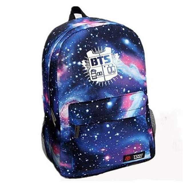 2017 Fashion Canvas Galaxy Printed BTS Backpacks School Bags For Teenager girls Men Laptop Travel Rucksack Mochila Escolar Li152